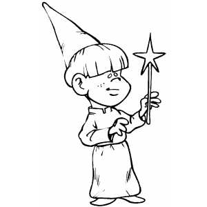 Wizard Boy Coloring Sheet