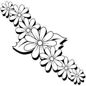 Daisies Coloring Sheet