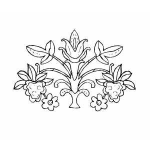 Deisgn With Multiple Flowers Coloring Sheet