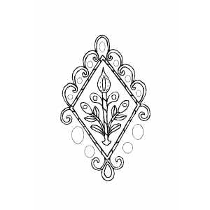 Flowers Ornament Coloring Sheet