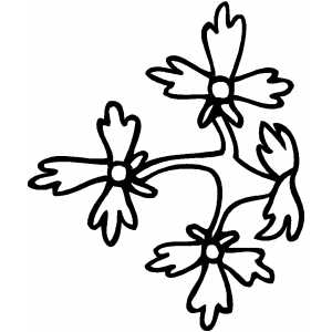 Three Flowers Design Coloring Sheet