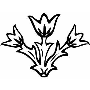Tulips Design Coloring Sheet