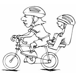Cycling Family Coloring Sheet