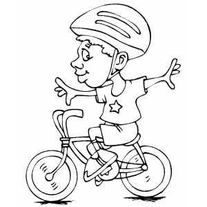 Cyclist Doing Stunt Coloring Sheet