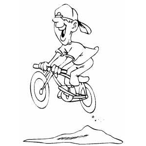 mountain biking coloring sheet