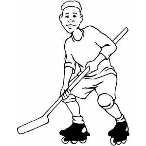 Roller Hockey Coloring Sheet