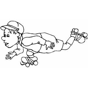 Roller Skating Coloring Sheet