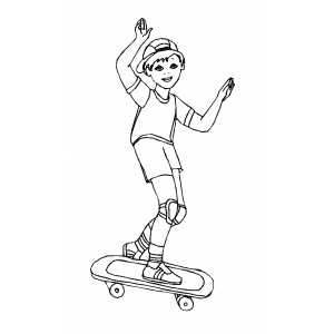 Skateboarding Boy Coloring Sheet