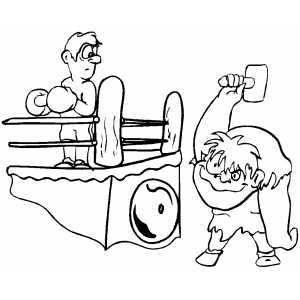 Hunchback Ringing Bell Coloring Sheet