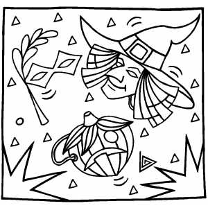 Masks Coloring Sheet