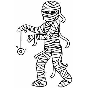 Mummy And YoYo Coloring Sheet