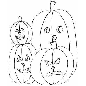 Pumpkins Family Coloring Sheet