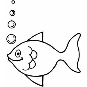Fish Making Bubbles Coloring Sheet