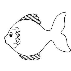Serious Fish Coloring Sheet