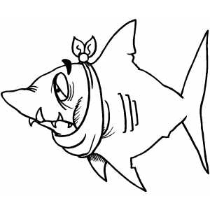 Shark With Toothache Coloring Sheet