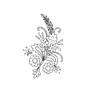 Beautiful Flowers Ornament Coloring Sheet