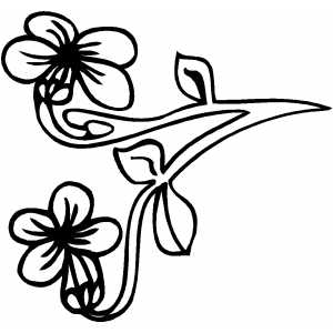 Flowers1 Coloring Sheet