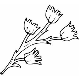 Flowers12 Coloring Sheet
