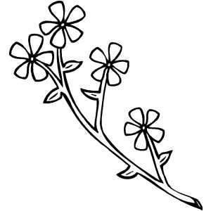 Flowers3 Coloring Sheet