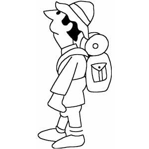 Backpacker Coloring Sheet
