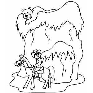 Bear On The Hill Coloring Sheet