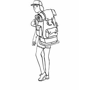 Moving Backpacker Coloring Sheet