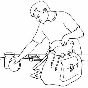 Packing Equipment Coloring Sheet