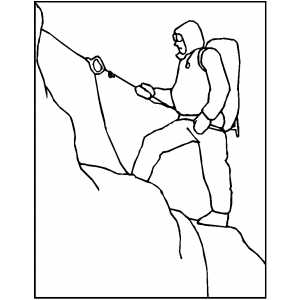 mountain climber coloring pages - photo#25