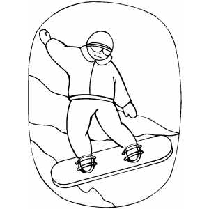 Snowboarder Boy Coloring Sheet