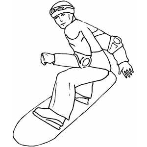 Snowboarder Guy Coloring Sheet