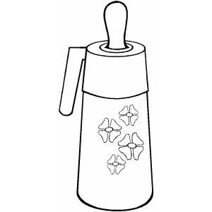 Baby Bottle Coloring Sheet