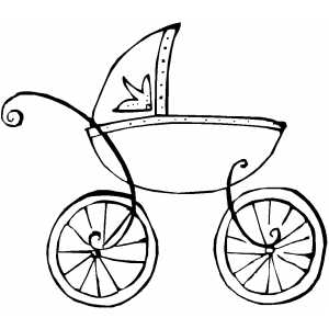 Baby Carriage Coloring Sheet