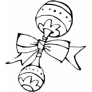 Baby Rattle Coloring Sheet