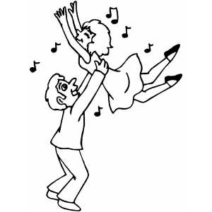 Couple Dancing Coloring Sheet