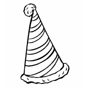 Party Hat Coloring Sheet