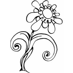 Daisy Toward To Sun Coloring Sheet