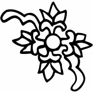 Flower Design Coloring Sheet