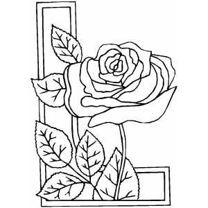Rose Border Coloring Sheet