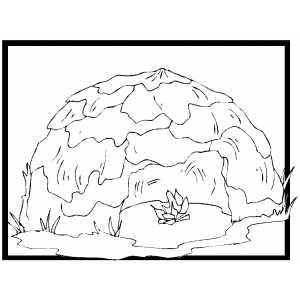 Bushman Hut Coloring Sheet
