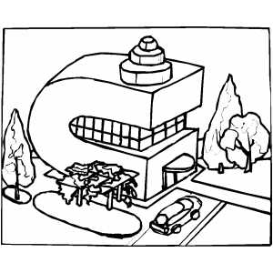 C Building Coloring Sheet