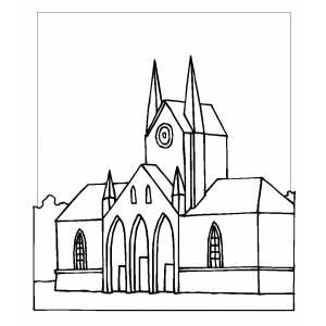 Cathedral Coloring Sheet