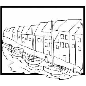 Copenhagen Coloring Sheet