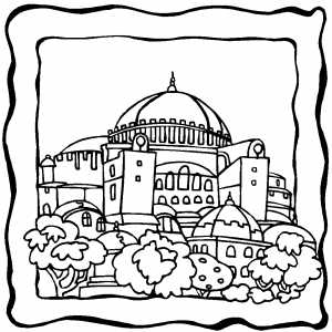 Dome Building Coloring Sheet