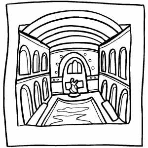 Gellert Baths Inside Coloring Sheet
