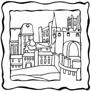 Old Castle Coloring Sheet