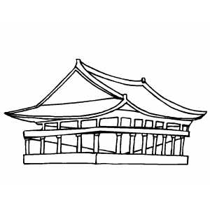 Pavilion Coloring Sheet