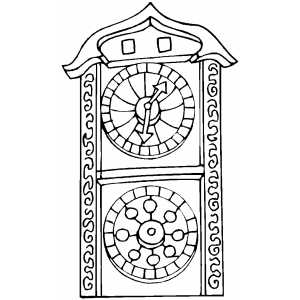 Pragues Clock Coloring Sheet