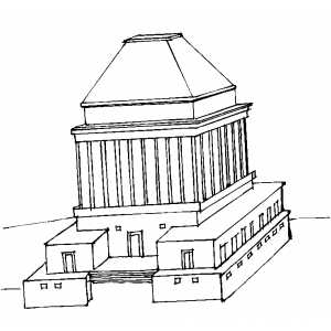 Roman Shrine Coloring Sheet