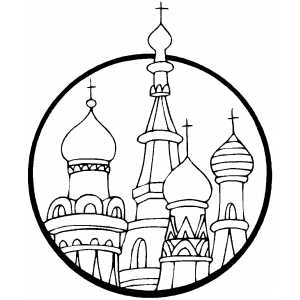 Saint Basils Cathdral Coloring Sheet