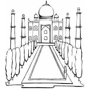 Taj Mahal Coloring Sheet